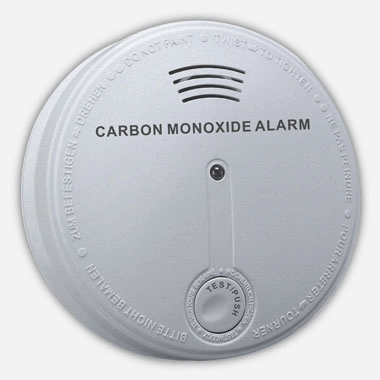 White and round carbon monoxide detector
