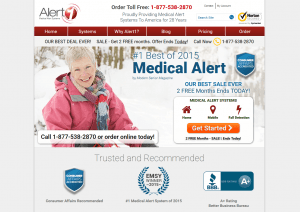 The homepage of Alert1