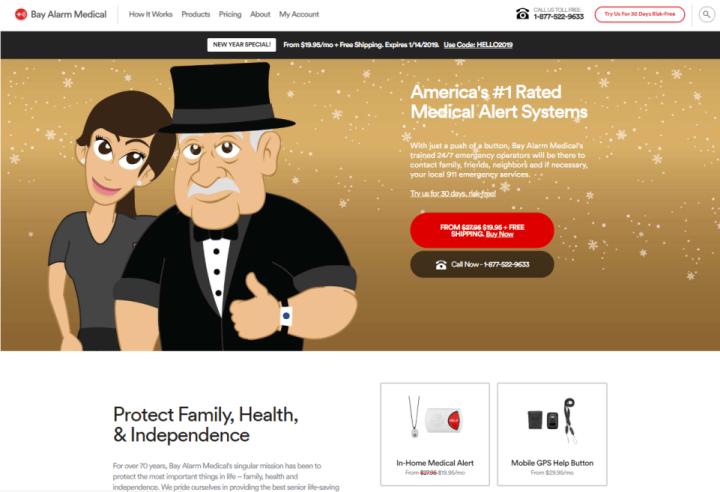 Bay  Alarm Medical Homepage