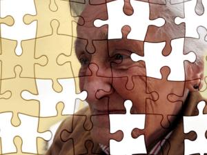 Dementia affecting elderly woman