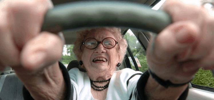 Senior driver experiences stress