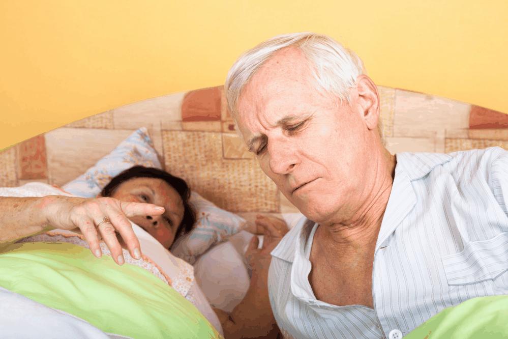 Elderly suffering from nocturia
