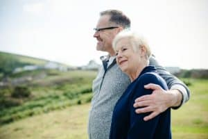 Happy and healthy elderly couple