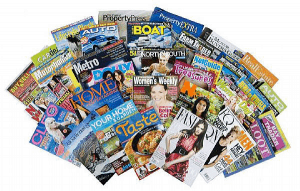 A bunch of different magazines