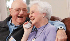 Medical alert system for elderly with bracelet and necklace