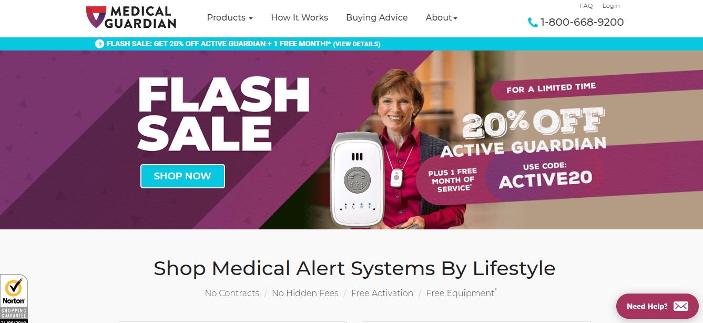 Medical Guardian homepage