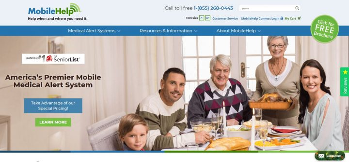 MobileHelp homepage