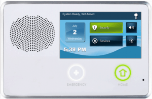 The touchscreen keypad of Monitronics