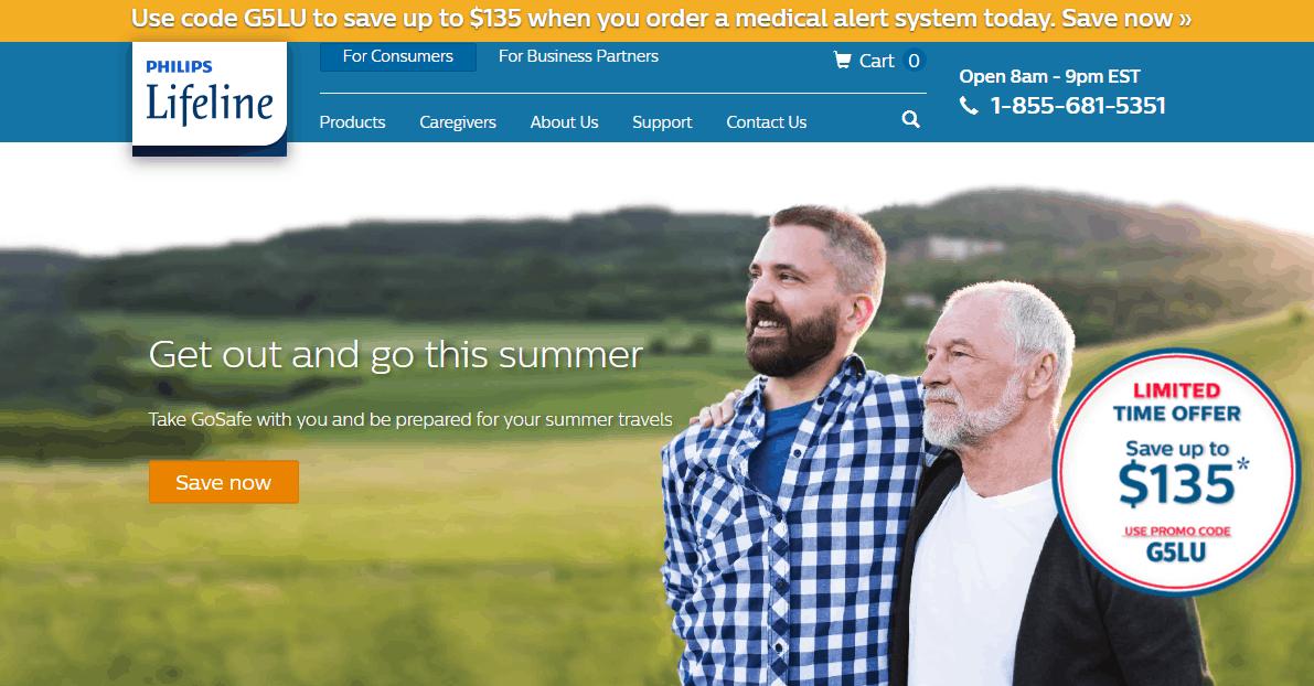 Philips Lifeline homepage