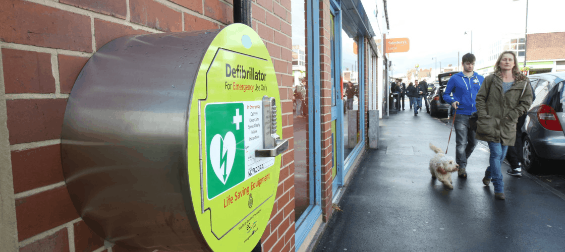 A publicly available defibrillator
