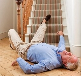Senior who fell down the stairs