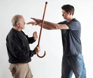 Elderly learning self-defense