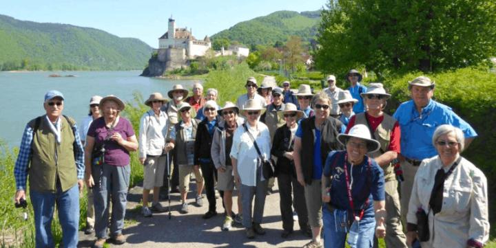 Group of seniors traveling