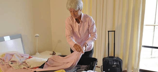 Senior packing her stuff