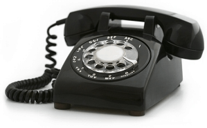 A traditional phone